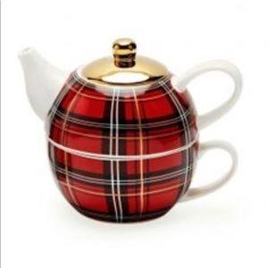 ☕️ BUFFALO PLAID TEA/COFFEE FOR ONE SET‼️